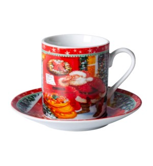 """Coffee cup and saucer 6 by 6,3.4 oz,Porcelain""              643700343604"