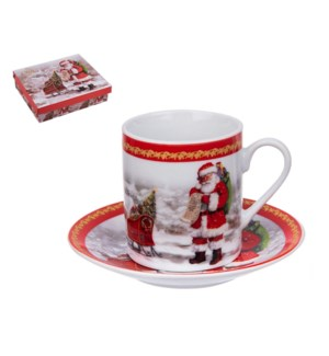 """Coffee cup and saucer 6 by 6,3.4 oz,Porcelain""              643700343611"