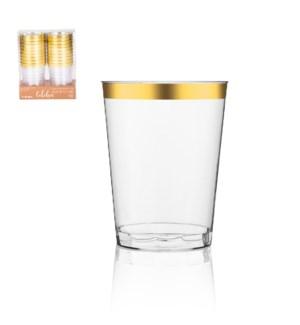 Disposable Plastic Cup 20pc Set 10oz Gold                    643700344984