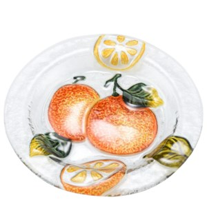 Round Pear Glass Plate 8in                                   643700350428