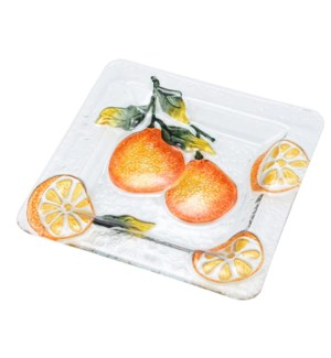Square Pear Glass Plate 10in                                 643700350435