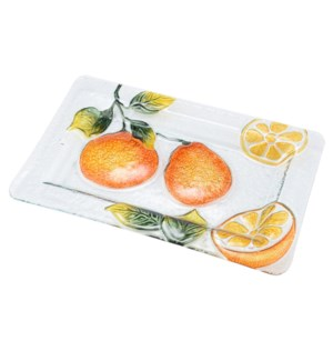 Rectangular Pear Glass Plate 14in                            643700350442