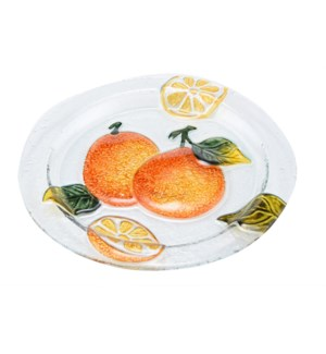 Round Pear Glass Plate 12in                                  643700350459