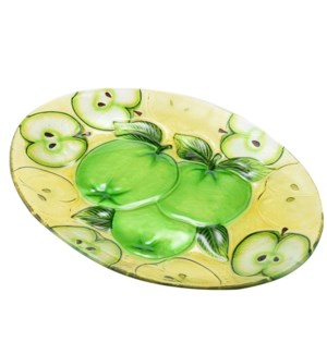 Oval Apple Glass Plate 16in                                  643700350534