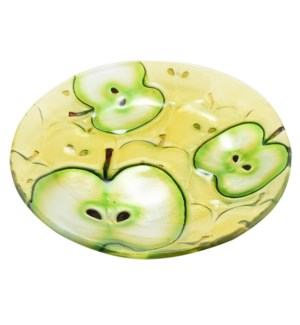 Round Apple Glass Plate 8in                                  643700350541