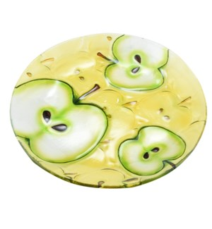 Round Apple Glass Plate 10in                                 643700350558