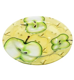 Round Apple Glass Plate 12in                                 643700350565