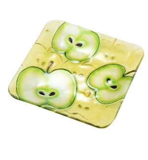 Square Apple Glass Plate 8in                                 643700350572