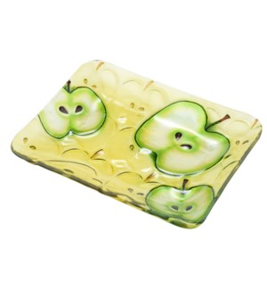 Rectangular Apple Glass Plate 10in                           643700350589