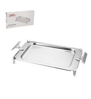 Rectangular Serving Tray SS 20.5x10in Silver Color           643700351005