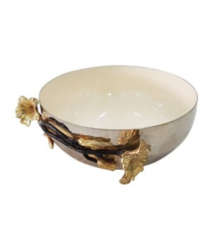 Beige Enamel Serving Bowl 6.5x3in                            643700351234