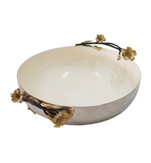 Beige Enamel Serving Bowl 12x3.5in                           643700351241