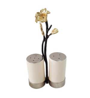 Beige Enamel Salt and Pepper 3x6.5in                         643700351364