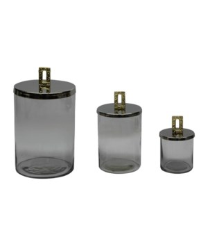 Glass Jar with Metal Lid                                     643700351388