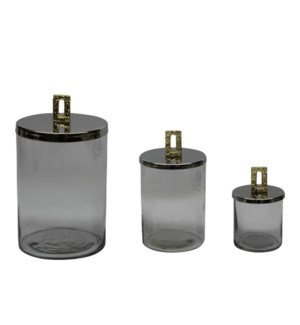 Glass Jar with Metal Lid                                     643700351395