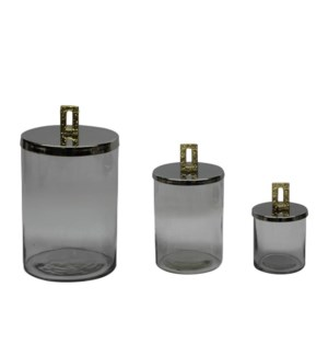 Glass Jar with Metal Lid                                     643700351401