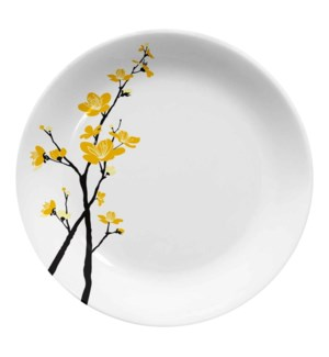 Melamine Urmi Dinner Plate 11in Yellow Orchid Flower         643700351906