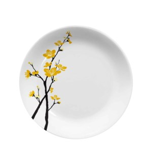 Melamine Urmi Medium Plate 9in Yellow Orchid Flower          643700351913
