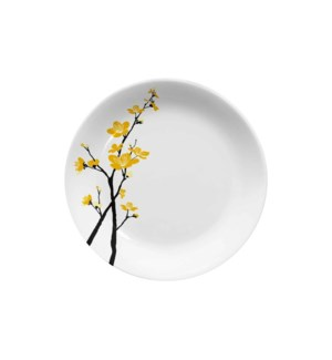 Melamine Urmi Small Plate 7.5in Yellow Orchid Flower         643700351920