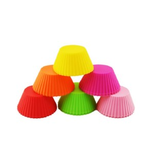 Silicone Cupcake mold 6pc set                                643700353009