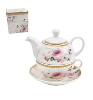 Tea set 4pc Set New Bone China                               643700355287