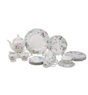 Tea set 24pcs JF SHAPE New Bone China                        643700355324
