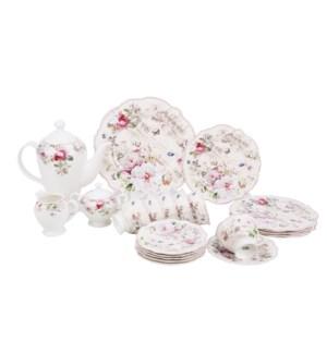 Tea set 24pcs JF SHAPE New Bone China                        643700355348