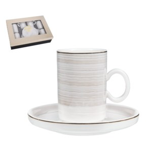 """""""Coffee Cup and Saucer 6 by 6,3.5 oz Porcelain""""              643700356406"""