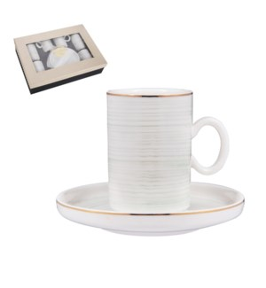 """""""Coffee Cup and Saucer 6 by 6,3.5 oz Porcelain""""              643700356413"""
