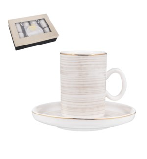 """""""Coffee Cup and Saucer 6 by 6,3.5 oz Porcelain""""              643700356437"""