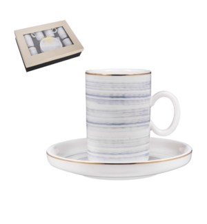 """""""Coffee Cup and Saucer 6 by 6,3.5 oz Porcelain""""              643700356444"""