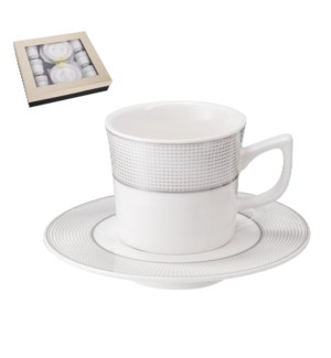 """""""Coffee Cup and Saucer 6 by 6,3.5 oz Porcelain""""              643700356451"""