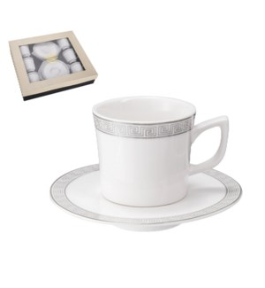 """""""Coffee Cup and Saucer 6 by 6,3.5 oz Porcelain""""              643700356499"""