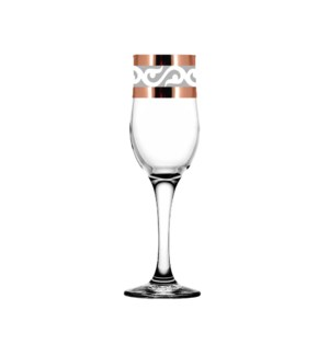 """Champagne Glass with pattern """"Lyre"""" 6.5 oz,Gold color""    643700357342"