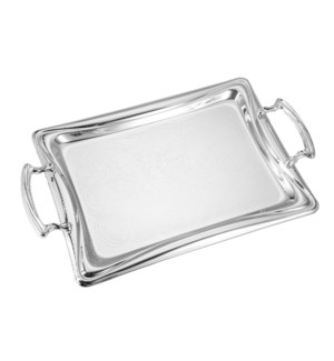 Serving Tray 2pc set 17 in and 14 in Iron Metal Handle       643700358035