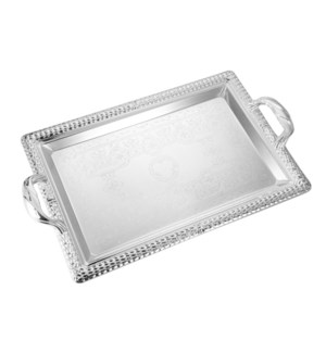 Serving Tray 2pc set 17 in and 14 in Iron Metal Handle       643700358066