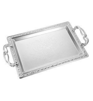 Serving Tray 2pc set 17 in and 14 in Iron Metal Handle       643700358127