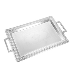 Serving Tray 2pc set 17 in and 14 in Iron Metal Handle       643700358158