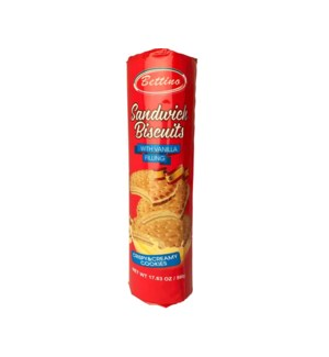 Bettino Sandwich Biscuits with Vanilla Filling 17.6oz 500g   643700361387