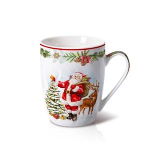 New Bone China Mug 14 oz With Christmas Design               643700372826