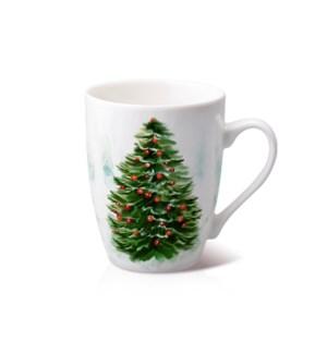 New Bone China Mug 14 oz With Christmas Design               643700372833