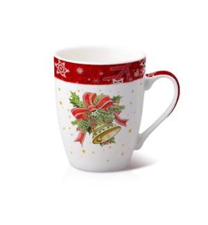 New Bone China Mug 14 oz With Christmas Design               643700372840