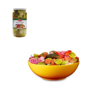Mixed pickle Glass 1000g Bettino                             643700249111