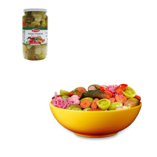 Bettino Mixed Pickles 2.2lbs 1kg                             643700249111