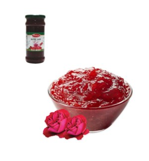 Rose Jam Glass 450g Al Mashrek                               643700249166
