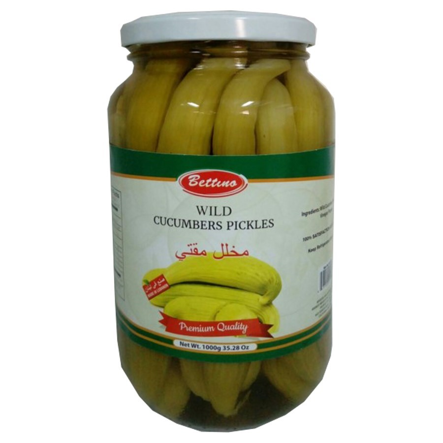 Pickled Wild Cucumber Glass 1000g Bettino                    643700249197