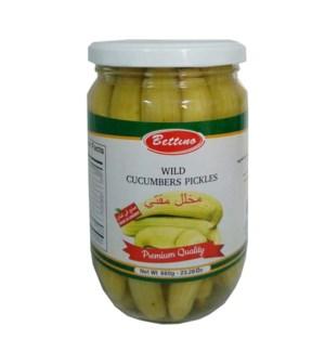 Pickled Wild Cucumber Glass 660g Bettino                     643700249203
