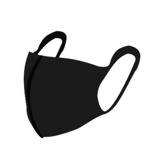 Earhook Cotton Mask Black                                    697823485532