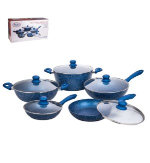 Cookware 10pc Set Forged Alum. Nonstick Coating,Silicone Han 643700289322