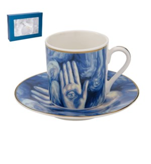 Coffee Cup and Saucer 6 by 6, 3.5oz, New Bone China with 2mm 643700241023